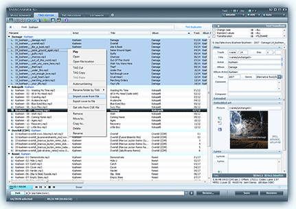 TagScanner freeware screenshot