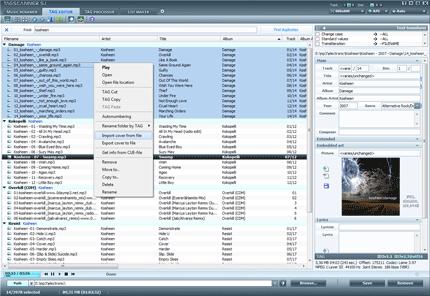 للتعديل على ملفات الميديا TagScanner 5.1 Build 622